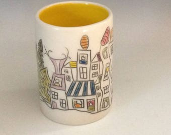 Story Cup, yellow. Little Village in the Woods.