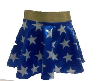blue and white stars skirt for costumes (girls)