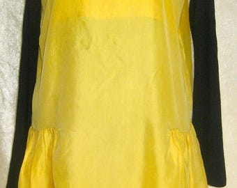SLIP DRESS LINGERIE VALENTINA IN BUTTERCUP YELLOW SILK