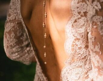 """Jewelry-wedding jewelry back """"AUDREY"""" for wedding ceremony"""