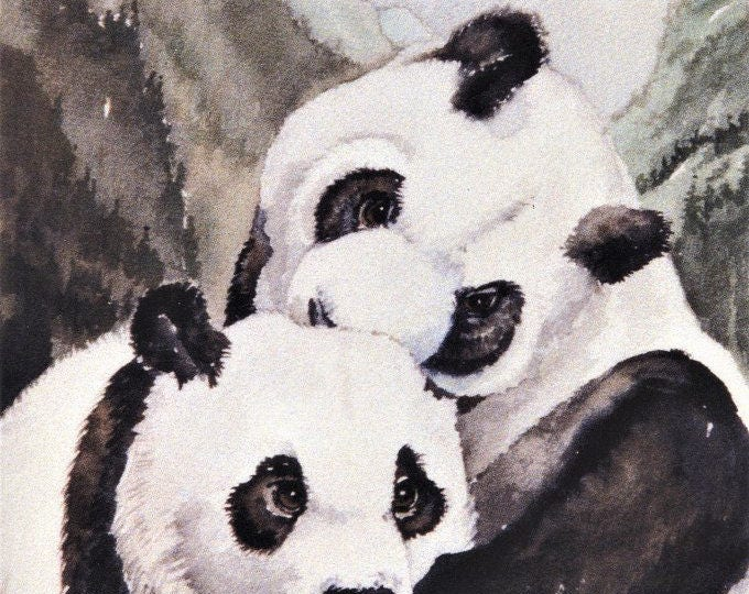 PRINT- PANDAS-WILDLIFE; on 32 lb laser paper, 8.50 x 10.25 inches, wall art,