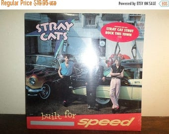 Save 30% Today Vintage 1982 Vinyl LP Record Stray Cats Built for Speed Near Mint Condition In Shrink w/Hype Sticker 10246