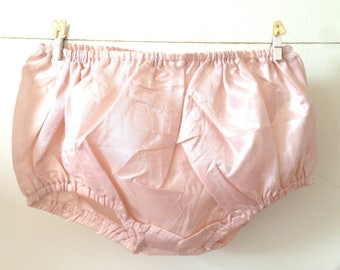 Christening bloomers, pink taffeta bloomers, baby girl bloomers, special occasions, pink taffeta, gift for her, made to order.