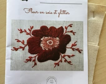 "Kit ""Silk flower and glitter"" fiche technique"