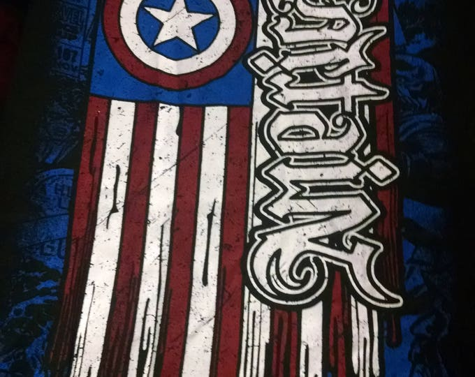 Shirts - Marvel - Captain America Painted Flag - Adult XXL