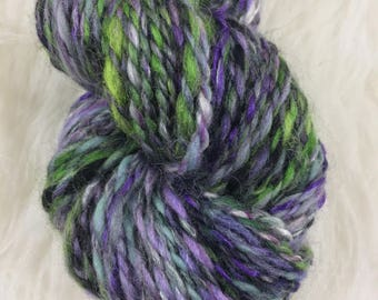 Yarn Aran Weight Worsted Weight Halloween Yarn Wool Art Yarn Knitting Crochet Hand Spun Gift For Her Weaving Merino Handspun