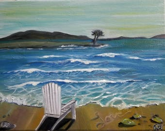 Adirondack By Seaside 16x20/Oil Painting