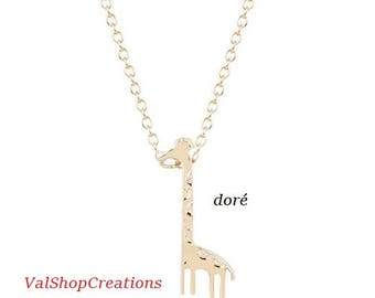 Gold plated giraffe necklace