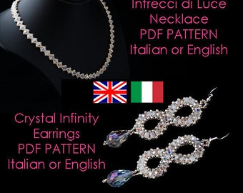 SPECIAL PRICE - 2 PDF patterns to create 2 beaded jewellery