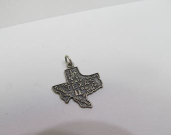 925 Sterling Silver Texas State Charm W #891