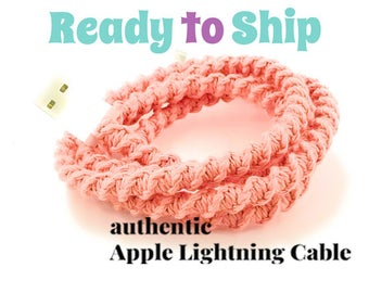 RTS iPhone Lightning Charger Cable, iPhone EarPods, iPhone EarPods plus Lightning Cable Gift Set You Choose - CORA by Missy and Joy