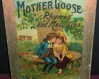 Circa 1880 Mother Goose book, non-PC, black interest