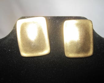 Gold Tone Square Earrings