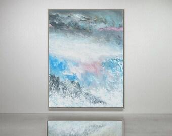 Contemporary abstract minimalist painting. original acrylic painting
