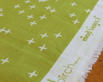Birch Fabrics - Organic Green Fabric - Organic Cotton - Green Quilting Fabric - Mod Basics 3 Wink Grass - Organic Quilting Fabric