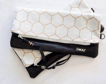 Leather foldover clutch ** Sale **