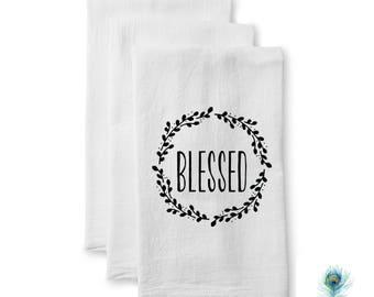 Flour Sack Towel - Housewarming Gift - Easter Gift - Wedding Gift - Hostess Gift - Tea Towel - New Home Gift - Kitchen Decor - Mom Gift