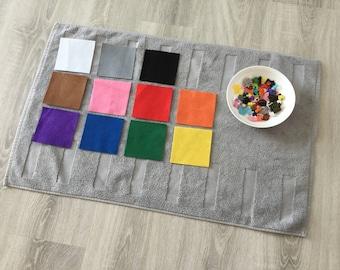 set avec 66 objets pour ranger par couleur (6 ud/11 couleurs) - Montessori boîte à couleurs 2