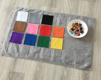 66 miniaturas para clasificar por colores 6 ud/ 11 colores (Montessori color box 2)