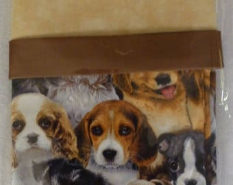 """Anniversary Sale Pillowcase Kit - Cute Puppies, Complete Kit, Make Your Own, Standard Size 20"""" x 30"""""""