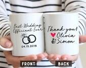 Best Wedding Officiant Ever, Wedding Officiant Mug, Officiant Gift, Wedding Gift, Wedding mug, Groomsman Gift, Wedding Souvenir