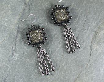 Bohemian Chic ~ Rustic Romantic ~ Silver Sparkle earrings