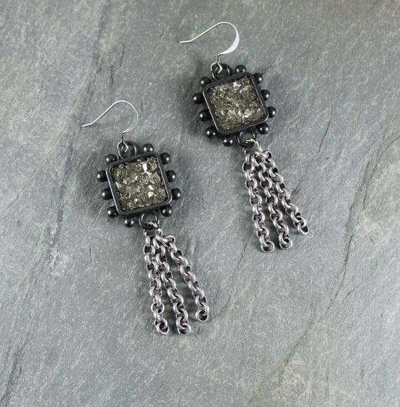 Bohemian Chic ~ Rustic Romantic ~ Silver Sparkle earrings