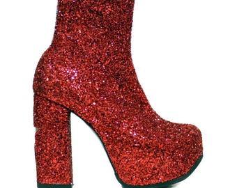 Glam Ziggy Glitter Boots 2 Tone