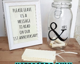 Wedding Message in a Bottle NOTECARDS ONLY,Guest Book, Alternative Guestbook,Wedding