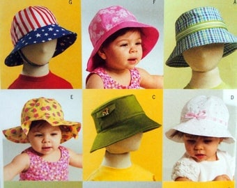 Infants'/Toddlers' Hats Butterick B5056 Uncut Sewing Pattern 2007