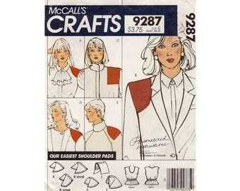Women's Camisole in Misses' Size 6-8-10-12-14-16-18-20 and Shoulder Pads in Various Shapes and Sizes Sewing Pattern Uncut McCall's 9287