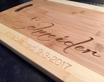 Wedding Gifts, Bamboo Cutting Board, Personalized Wood Cutting Board, Groomsman Gifts, Serving Tray, Bridesmaid Gifts, Housewarming New Home