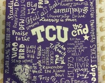 Hand Painted TCU Canvas