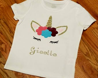 Personalized Unicorn Shirt, Unicorn Shirt, Birthday Girl, Birthday Shirt, Unicorn Birthday