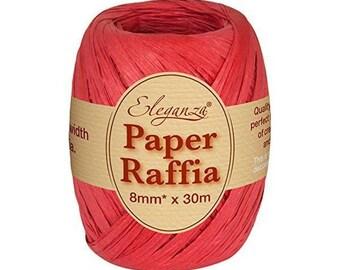 8 mm red raffia Ribbon