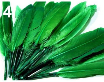 04 - 9-14 cm green duck feathers