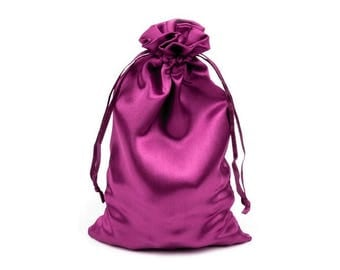 3 bag bag satin 11 x 17 cm hot pink