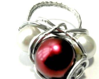 """7"""" Burgandy Globe Ring"""