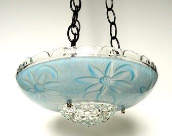 Glass garden art blue bird feeder, glass blue bird feeder, glass bird feeder, garden art bird feeder, garden bird bath, blue bird bath bowl