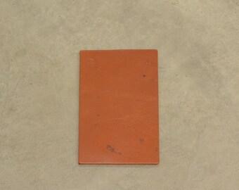 """Grunge Saddle Tan Leather Bridle Cow Hide 4"""" x 6"""" Pre-cut 9-10 ounces DE-64633 (Sec. 3,Shelf 6,A,Box 2)"""