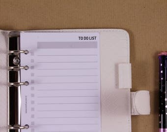 Personal planner inserts, To Do List planner, Printed inserts pages, planner organizer sheets
