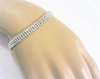 Vintage Napier Silver Link Bracelet