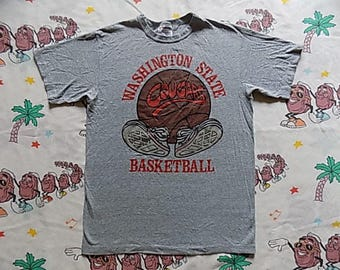 Vintage 80's Washington State Basketball T shirt, size Small 1983 Cougars college sports University