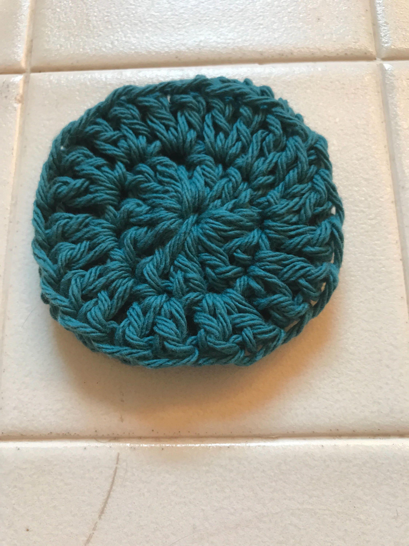 Scrubbie crochet scrubbie aqua blue face scrubbie dish details one crocheted aqua blue scrubbie bankloansurffo Gallery