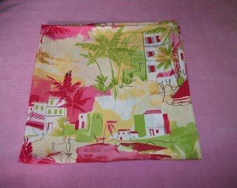 Retro 70s 80s Does Warm PAST FRENCH TROPICAL Fabric, Smooth Feel, Rayon or Rayon Blend