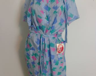 HALF PRICE Ruby Lou Dress Size 20. Retro Ruby Lou Dress with Tags, 70s Dress , XXL Dress,  Vintage Clothing Big Girl  Dress,