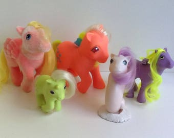 G1 My Little Pony PARTY GIFT PACK Set of 5 Ponies