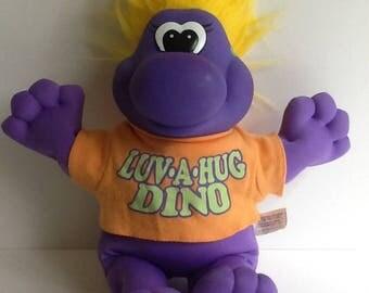 1993 Toymax LUV-A-HUG DINO Plush