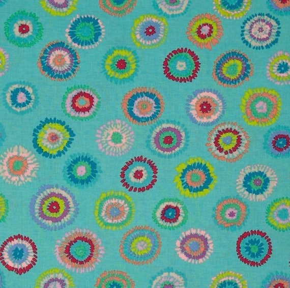 PLINK TURQUOISE Kaffe Fassett Sold in 1/2 yard increment units