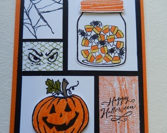 Halloween Collage Card